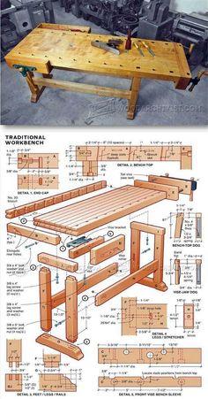 desain rancangan meja kerja #woodworkinghandtoolsbench