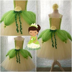 Very best Little one Tutu Clothes for your chosen newborn baby, You'll find that we have an excellent variety of handmade car young one tutu evening wear. Robes Disney, Disney Dress Up, Disney Costumes, Princess Tiana Costume, Princess Tutu, Diy Tutu, Costumes Avec Tutu, Tulle Projects, Costume Carnaval