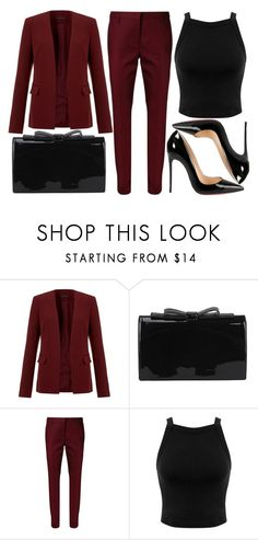"""street style"" by sisaez ❤ liked on Polyvore featuring Theory, Dorothee Schumacher, Miss Selfridge and Christian Louboutin"
