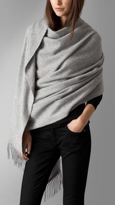 Burberry Embroidered Cashmere Stole on shopstyle.com