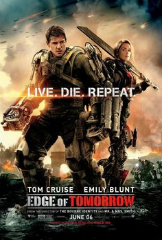 Edge of Tomorrow movie posterFantastic Movie posters #SciFi movie posters #Horror movie posters #Action movie posters #Drama movie posters #Fantasy movie posters #Animation movie Posters
