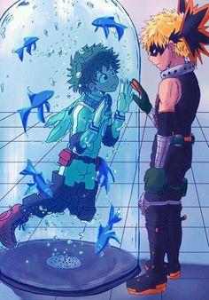 Mein Held Academia - Midoriya & Bakugou - My Hero Academia Deku Hero Academia, My Hero Academia Memes, Hero Academia Characters, My Hero Academia Manga, Buko No Hero Academia, Otaku Anime, Manga Anime, Anime Love, Anime Guys