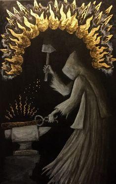 Strange Gods- the art of Valin Mattheis Gothic Horror, Horror Art, The Ancient Magus, Medieval, Sketch Inspiration, Fantastic Art, Dark Fantasy, Macabre, Occult