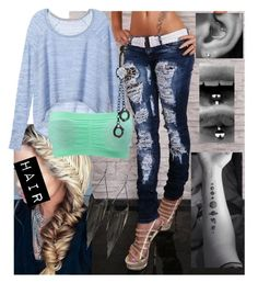 """""""Untitled #9044"""" by onedirection-emblem3 ❤ liked on Polyvore featuring Victoria's Secret, Charlotte Russe, GUESS and Bling Jewelry"""