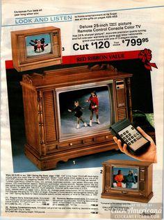 Color Television, Vintage Television, Small Portable Radio, Vintage Tv Ads, 1980s Tv, Cordless Telephone, Hi Fi System, Tv Sets, Tv Remote Controls