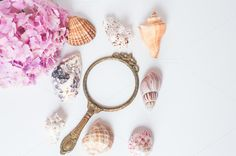 Sea and mirror I Styled Stock - Business Single Image, Sea Shells, Drop Earrings, Mirror, My Style, Business, Frame, Artist, Beautiful