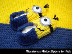 Mischievous Minion Slippers for Kids