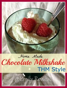 Chocolate Milkshake, home made, ice cream, NO ICE CREAM MAKER NEEDED!  Chocolate ice cream, THM, Trim Healthy Mama approved, All you need is a good blender.