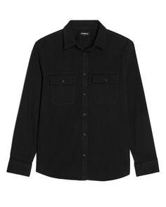 Slim Black Denim Shirt Shirt Dress, Mens Tops, Shirts, Fashion, Moda, Shirtdress, Fashion Styles, Fashion Illustrations, Dress Shirts