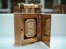 Dunhill concealed watcg 9 k solid silver lighter Danilo Arlenghi 335 6815268