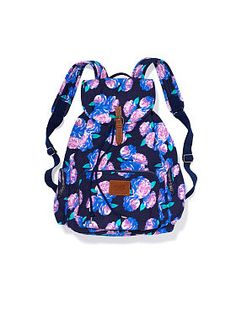 New Victorias's Secret PINK Navy Floral Backpack Bookbag School Gym Travel Victoria Secrets, Victoria Secret Pink, Stylish Backpacks, Cute Backpacks, School Backpacks, Floral Backpack, Backpack Purse, Rucksack Bag, Duffle Bags