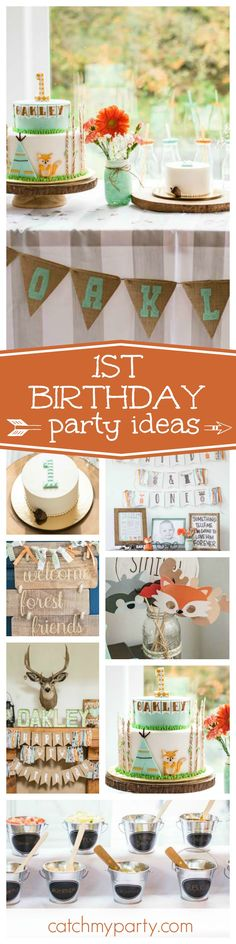 Check out this fun Wild & One 1st birthday party. The birthday cake is so adorable!! See more party ideas and share yours at CatchMyParty.com