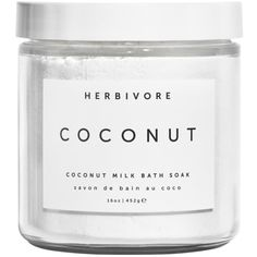 Women's Herbivore Botanicals Coconut Soak ($32) ❤ liked on Polyvore featuring beauty products, bath & body products, makeup, fillers, fillers - white, no color and herbivore