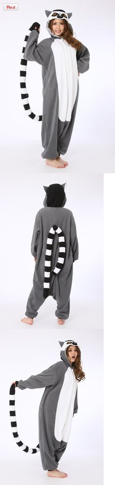 The Official Sazac Adult Kigurumi Madagascar Ring-tailed Lemur Costume Pajamas, What is kigurumi? Kigurumi is the name for costumed   characters. The name comes from the Japanese verb kiru (to   wear) and noun nuigurumi (stuffed toy) As part of the Japanese   Pop culture th..., #Apparel, #Women