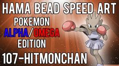 Hama Bead Speed Art | Pokemon | Alpha/Omega | Timelapse | 107 - Hitmonchan