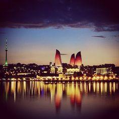 "@fairmontbaku photo: ""The Flame Towers have changed  Baku's skyline. Amazing view!!! #flametowers #fairmontbaku"" #fairmonthotels #baku #hotel"