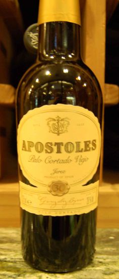 Master Sommelier Eric Entrikin recommends pairing Apostoles Palo Cortado Viejo Jerez 30 year Sherry with Manchego cheese, almonds, and quince paste.
