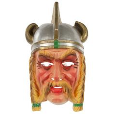 50s Cesar French Viking Mask now featured on Fab.