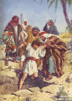 As a young boy Joseph gets thrown into a pit and sold by his brothers into slavery. God took him through the worst circumstances in life and made Joseph the second in command behind the Pharaoh. In his lifetime, Joseph was the savior of Israel. Bible Photos, Bible Pictures, Biblical Hebrew, Biblical Art, Religious Pictures, Religious Art, Bible Art, Bible Scriptures, Joseph In Egypt