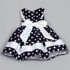 Dorissa Infant Girl's Dotty Polka Dot Dress