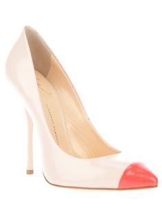Giuseppe Zanotti contrast toe pump [CELE15001] - $202.00 : Discounted Christian Louboutin,Jimmy Choo,Valentino Shoes Online store
