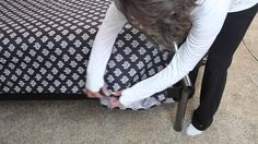 Folding fitted sheets & Making a bed