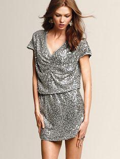 Elegancka Sukienka cekinowa Victoria Secret M 38