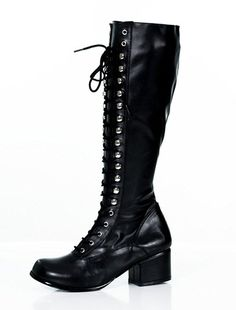 Lace up Knee High Combat Steampunk Gothic Retro Womens Boots *** For more information, visit image link.