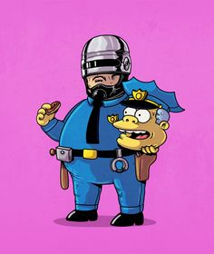 Removing the Masks from Famous Comic Icons by Alex Solis - cop