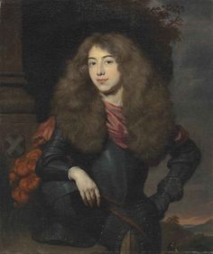 View Portrait of Joseph Hoeufft, Heer van Lunenburg half-length, in armour, his right arm resting on a helmet By Nicolaes Maes; oil on canvas; x 16 in. Access more artwork lots and estimated & realized auction prices on MutualArt. Baroque Painting, Baroque Art, Historical Art, Historical Costume, Dutch Republic, Bless The Child, Dutch Golden Age, Dutch Painters, Color Harmony
