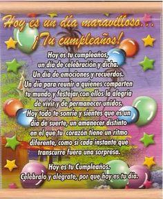 Spanish Birthday Wishes, Happy Birthday Ecard, Happy Birthday Wishes Cards, Birthday Poems, Happy Birthday Pictures, 22nd Birthday, Teen Birthday, Birthday Cards, Good Day Quotes