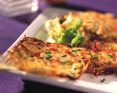 Sauerkraut-Kartoffelplätzchen mit Speck | Kalorien: 426 Kcal - Zeit: 1 Std. | http://eatsmarter.de/rezepte/sauerkraut-kartoffelplaetzchen-mit-speck