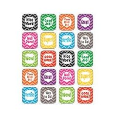 Teacher Created Resources TCR5532 Chevron Stickers