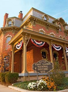 First Ladies National Historic Site, Canton, Ohio: Guided tours visit two buildings, including the restored Victorian Saxton McKinley House. Details + more presidential stops in Ohio: http://www.midwestliving.com/travel/ohio/5-ohio-presidential-sites/page/1/0