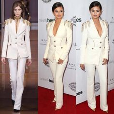Chic white suit