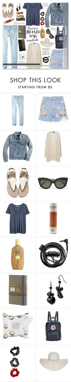 """""""on the road again."""" by sinesnsingularities ❤ liked on Polyvore featuring Jack Wills, Topshop, J.Crew, Violeta by Mango, Victoria Beckham, H&M, Hampton Sun, Sun Bum, Forever 21 and Moleskine"""