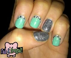 Fab & Frugal Gal: Vegas Bling Nails! Step by step tutorial on how to do this with gel polish or regular polish
