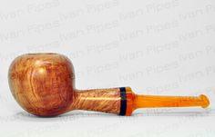 briar pipe with orange stem