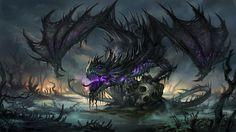 Dragão do pântano amaldiçoado.