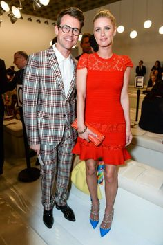 Brad Goreski and Nicky Hilton at Valentino Sala Bianca 945