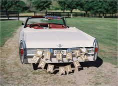 Just married car bunting