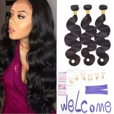 Ali AMY Brazilian Hair Weave Human Hair Bundles Body Wave 3 pcs 12,14,16Inch Unprocessed Brazilian Virgin Human hair Weave Bundles Natural Black Color. 1: Ali AMY hair will increase you more confidence at any time,will Make you be the focus of every occasion ,To be a shine girl. 2:100% Human virgin hair from ONE healthy donor .No Sheds ,No Tangles,No Smells ,Soft and Sheeny. 3:3 bundles per lot ,95-105g per bundle , standard length 8 to 30inches , arbitrary combination with your need....