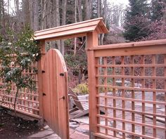 See Through Fence Gates and Fencing Phyllis Warman Landscape Design Kirkland, WA