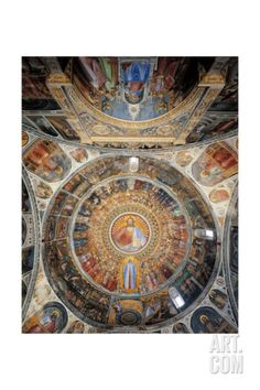 Paradise. Domed vault of the Baptistery Art Print by Giusto de Menabuoi at Art.com