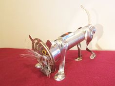 Robot  Assemblage, Altered Art, Eveready the Cat