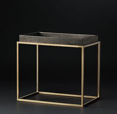 RH Modern's Hudson Shagreen Tray Rectangular Side Table:Designed by Anthony Cox  $695