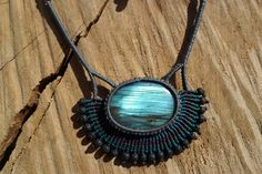 Check out this item in my Etsy shop https://www.etsy.com/listing/237638970/handmade-macrame-gemstone-necklace-with