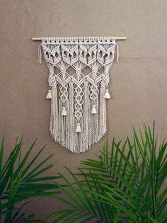 Beautiful tasseled macrame wall hanging to add to your bohemian home.Macrame Wall Hanging by MacrameElegance