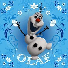 FROZEN Olaf Snowy Snowman Quilting Fabric Block