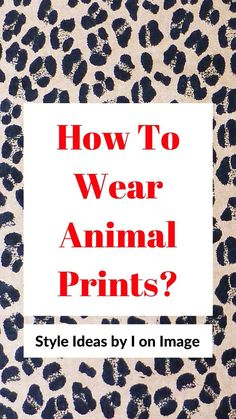 Learn new ways to wear animal prints with your favorite virtual personal stylist = Yes, that's me! Look your best in fabulous jungle inspired outfits. You can consider animal print neutrals or a walk on the wild side. They can look cute, sexy, cool or classic depending on how you style them. The possibilities are endless and I want to show you the ways I like to style my leopard, zebra, tiger and snake prints. Animal Print Fashion, Animal Prints, Personal Image, Personal Stylist, Personal Branding, Snake Print, Her Style, Love Her, How To Memorize Things